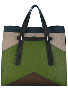 сумка-тоут дизайна колор-блок Furla