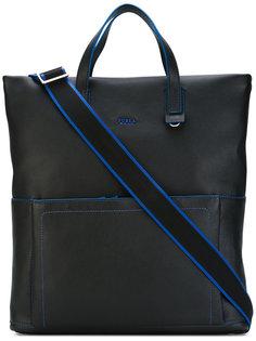 сумка-шоппер с контрастными деталями Furla