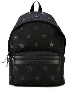 рюкзак с нашивками звезд Saint Laurent