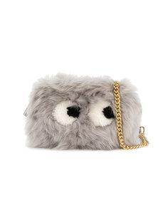 сумка через плечо из овчины eyes Anya Hindmarch