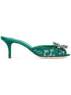 декорированные кружевные босоножки Dolce & Gabbana