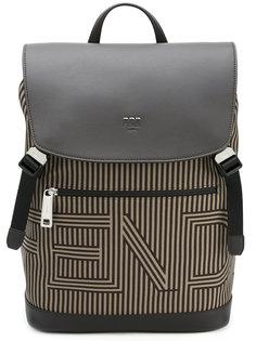 полосатый рюкзак с застежкой на шнурке Fendi