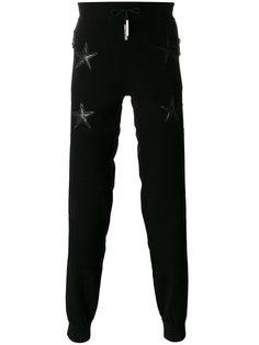 спортивные брюки с заплатками в виде звезд Philipp Plein