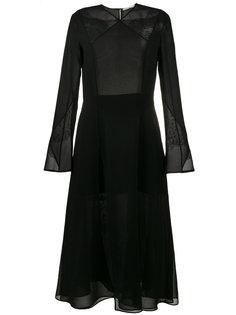 шифоновое платье миди Olivier Theyskens