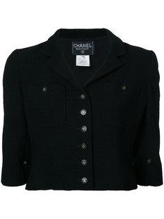 укороченный пиджак с длинными рукавами  Chanel Vintage
