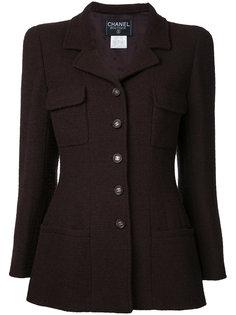 пиджак с длинными рукавами и логотипом CC Chanel Vintage