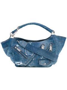 джинсовая сумка-хобо  Dsquared2