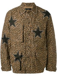 куртка с леопардовым принтом Amiri
