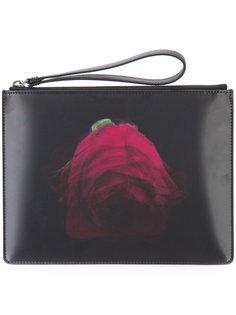 клатч на молнии с цифровым принтом Christopher Kane