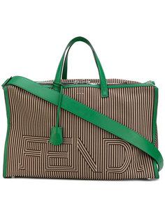 дорожная сумка в полоску Fendi