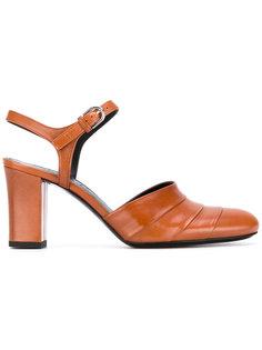 босоножки на каблуках-столбиках Jil Sander