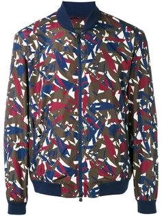 куртка-бомбер  с абстрактным принтом Z Zegna