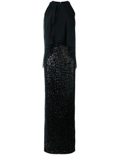 вечернее платье с пайетками Talbot Runhof