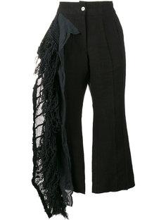 укороченные брюки с бахромой By Walid