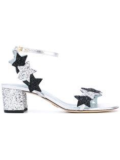 блестящие босоножки со звездами Chiara Ferragni