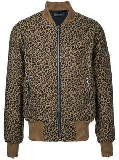 куртка-бомбер с леопардовым принтом Amiri