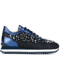 кроссовки декорированные кристаллами Le Silla