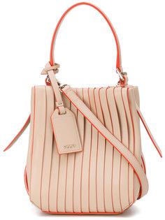 плиссированная сумка через плечо  DKNY
