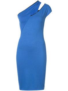 коктейльное платье со скошенным плечом Mugler
