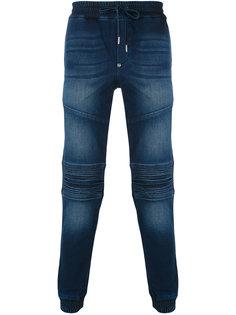 спортивные брюки в байкерском стиле Philipp Plein