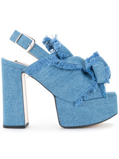 джинсовые босоножки на платформе Nº21