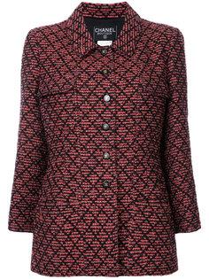 винтажный твидовый пиджак с длинными рукавами Chanel Vintage