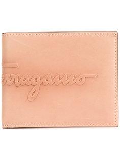 кошелек с тиснением бренда Salvatore Ferragamo