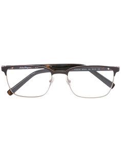 очки в круглой оправе Salvatore Ferragamo