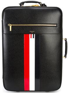 чемодан с контрастными полосками  Thom Browne