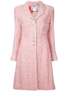 твидовое пальто Chanel Vintage
