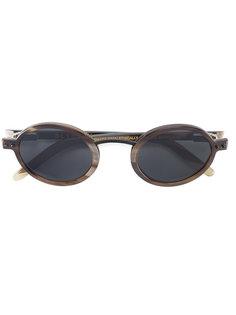 солнцезащитные очки с отделкой буйволиным рогом Blyszak