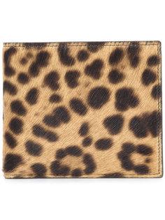 бумажник с леопардовым принтом Maison Margiela
