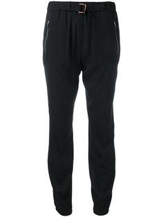 спортивные брюки с карманами на молнии и поясом Fabiana Filippi