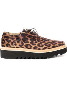 леопардовые ботинки на платформе Stella McCartney