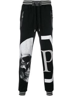 спортивные брюки с черепом в стразах Philipp Plein