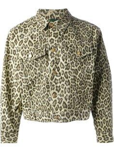 джинсовая леопардовая куртка Junior Gaultier  Jean Paul Gaultier Vintage