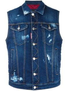 джинсовая куртка без рукавов Ski Dsquared2