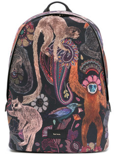 рюкзак с принтом обезьян  Paul Smith