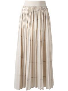 длинная плиссированная юбка DKNY