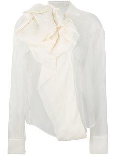 полупрозрачная блузка с бантом  Christian Dior Vintage
