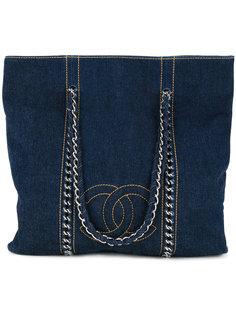 сумка-тоут с цепочкой и логотипом CC Chanel Vintage