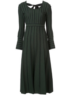 трикотажное платье миди Fendi