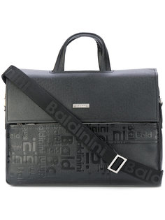 embossed logo laptop bag Baldinini