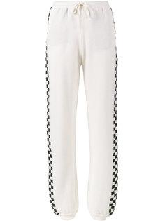 спортивные брюки в клетку Stella McCartney
