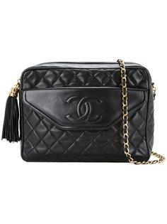 стеганая сумка на плечо с логотипом Chanel Vintage