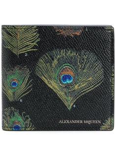 кошелек с перьями павлина Alexander McQueen