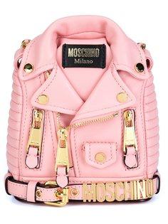рюкзак мини в виде байкерской куртки  Moschino