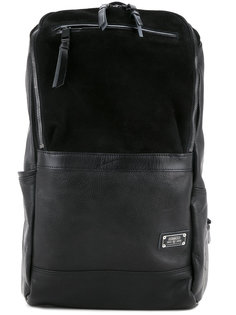 Leather combination square backpack As2ov