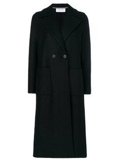 удлиненное двубортное пальто  Harris Wharf London