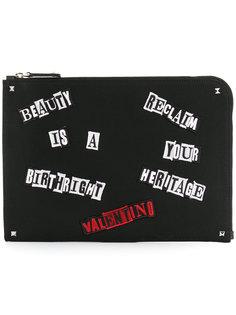 клатч с аппликацией Valentino